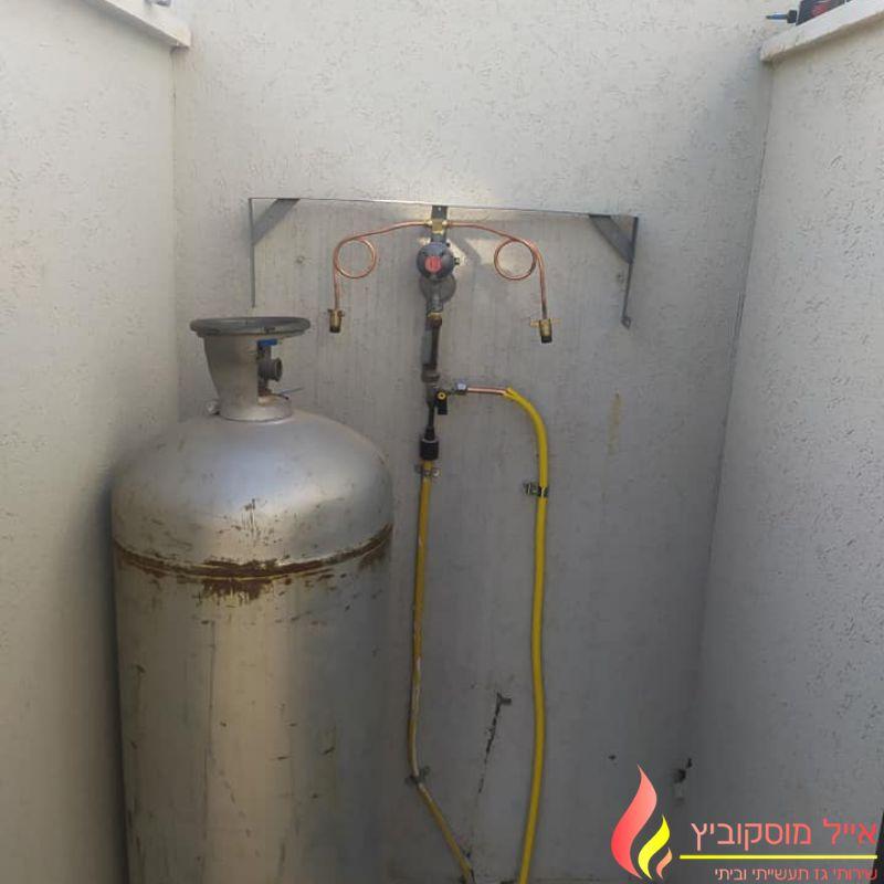 חיבור תשתית גז בבית פרטי