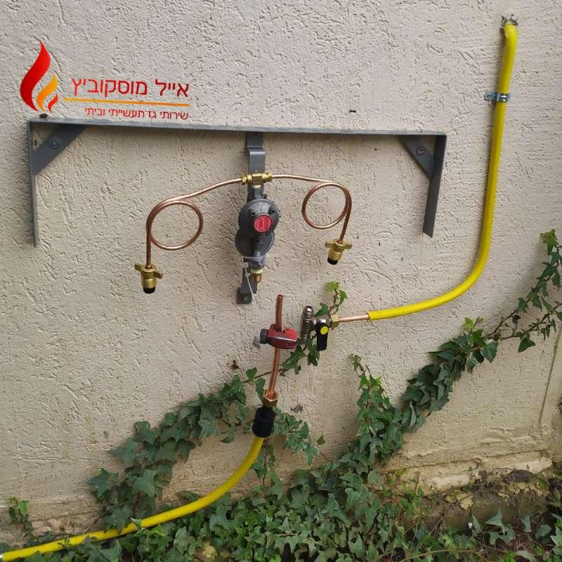 תשתית גז לבית פרטי