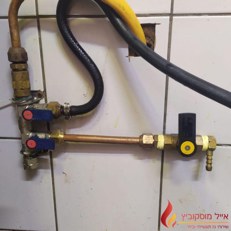 סידור וניקוי תשתיות גז במסעדה