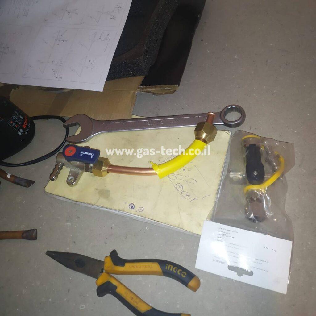 כלי עבודה של טכנאי גז