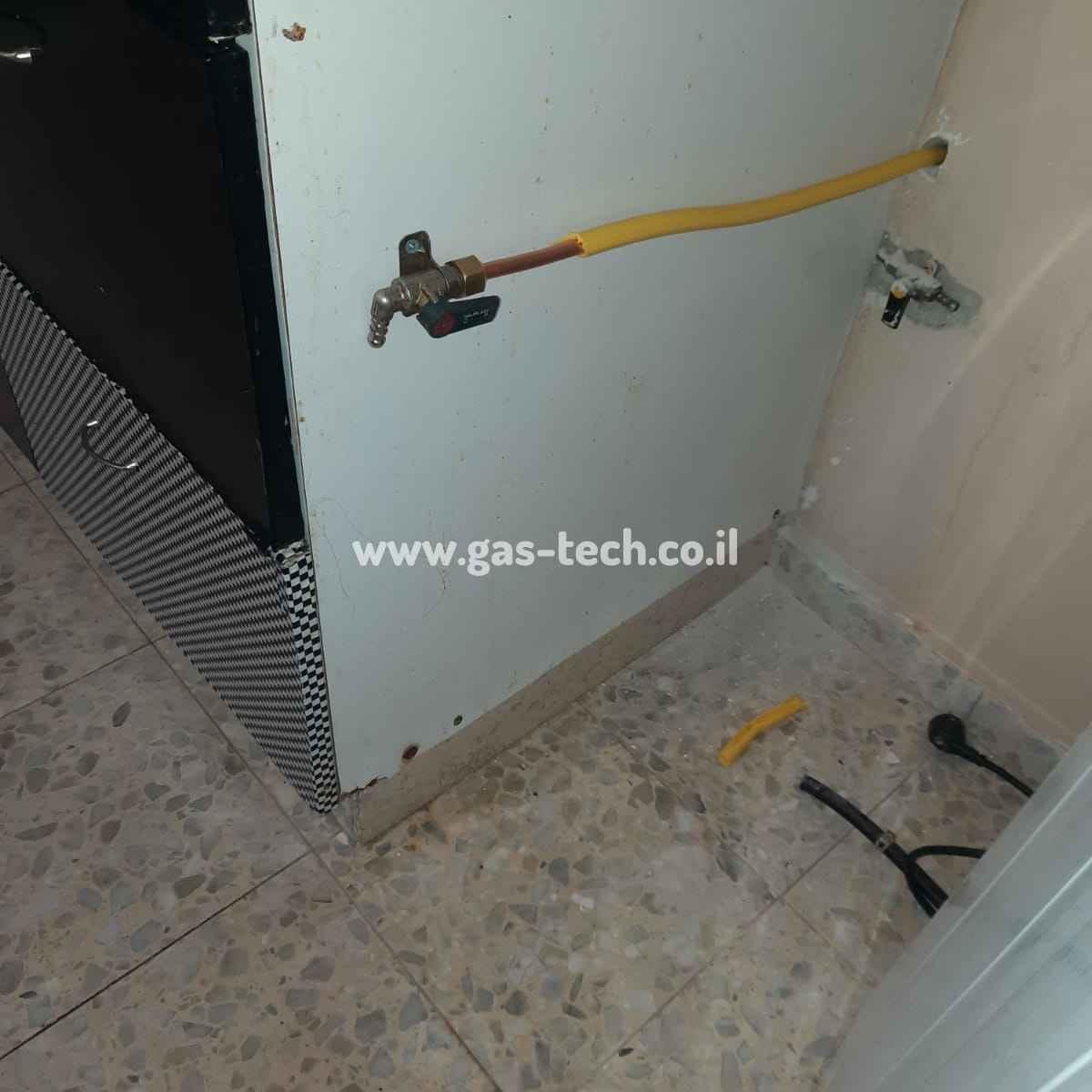 צינור גז צהוב - פריסת תשתית ביחידת דיור