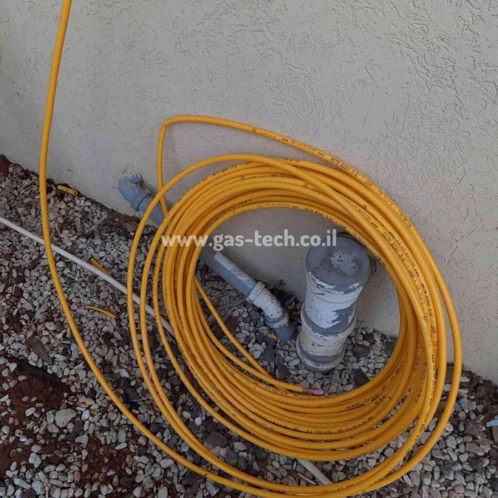 צינור גז נחושת צהוב