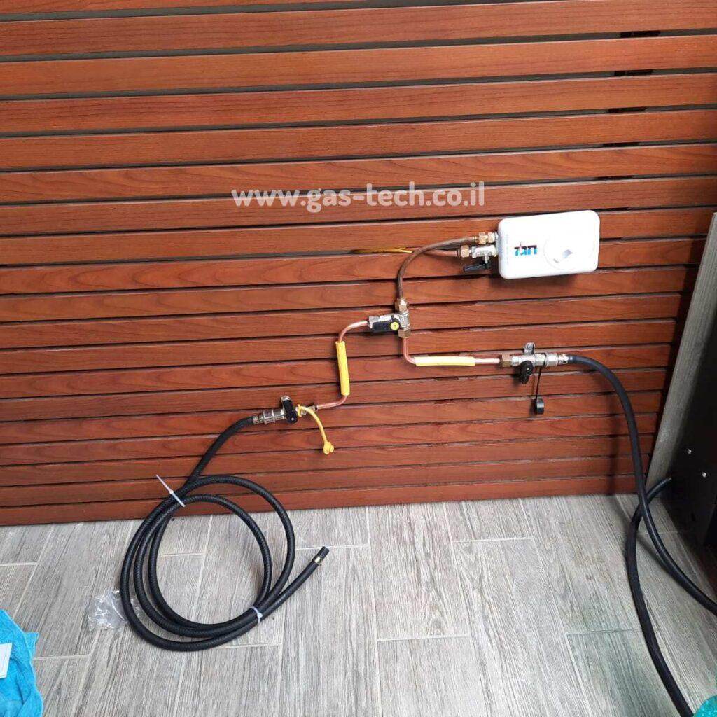 חיבור מערכת גז עם חגז
